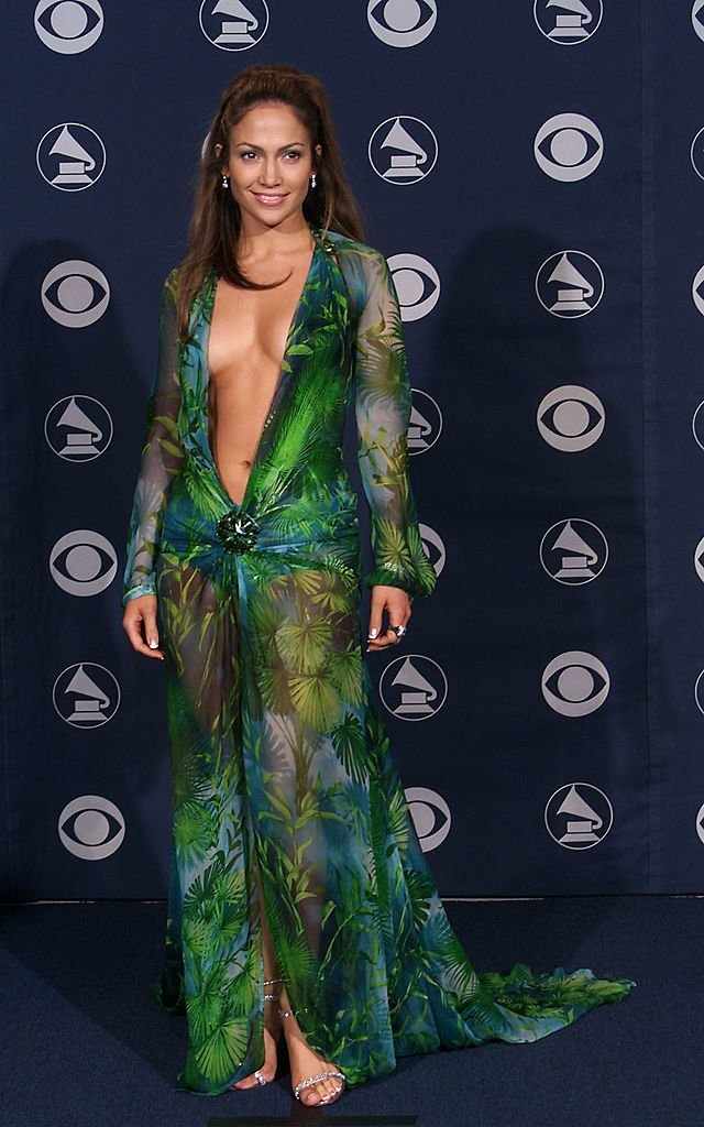 Jennifer Lopez in Versace at the 42nd Grammy Awards. | Source: Getty Images
