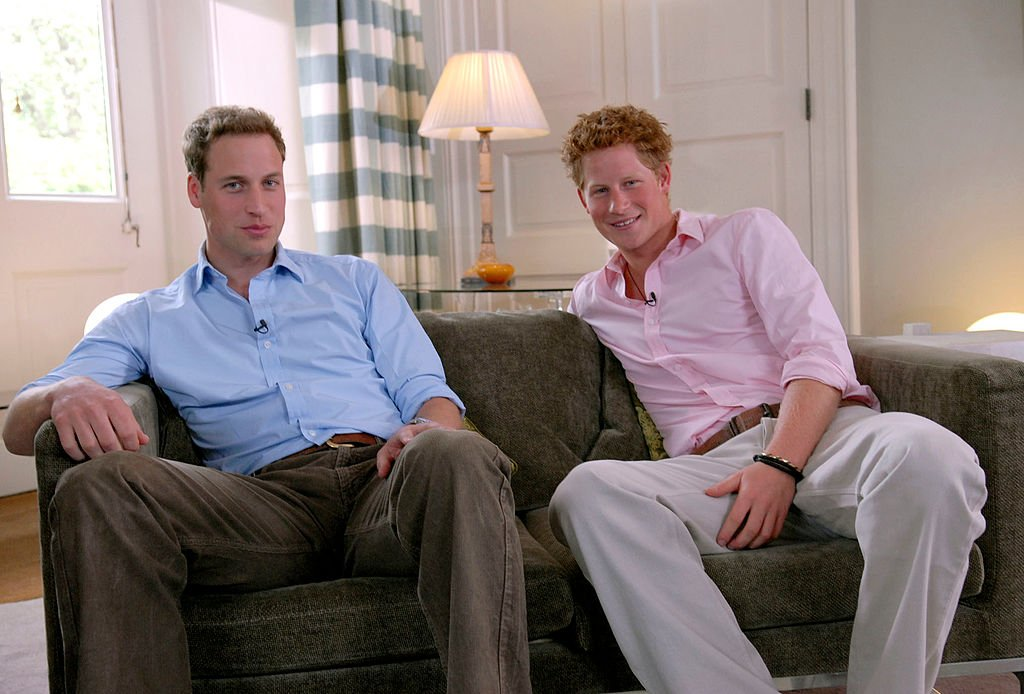 Prince William and Prince Harry pictured during a rare interview in which they discussed their mother, Prince Diana's life and legacy. 2007. | Photo: Getty Images