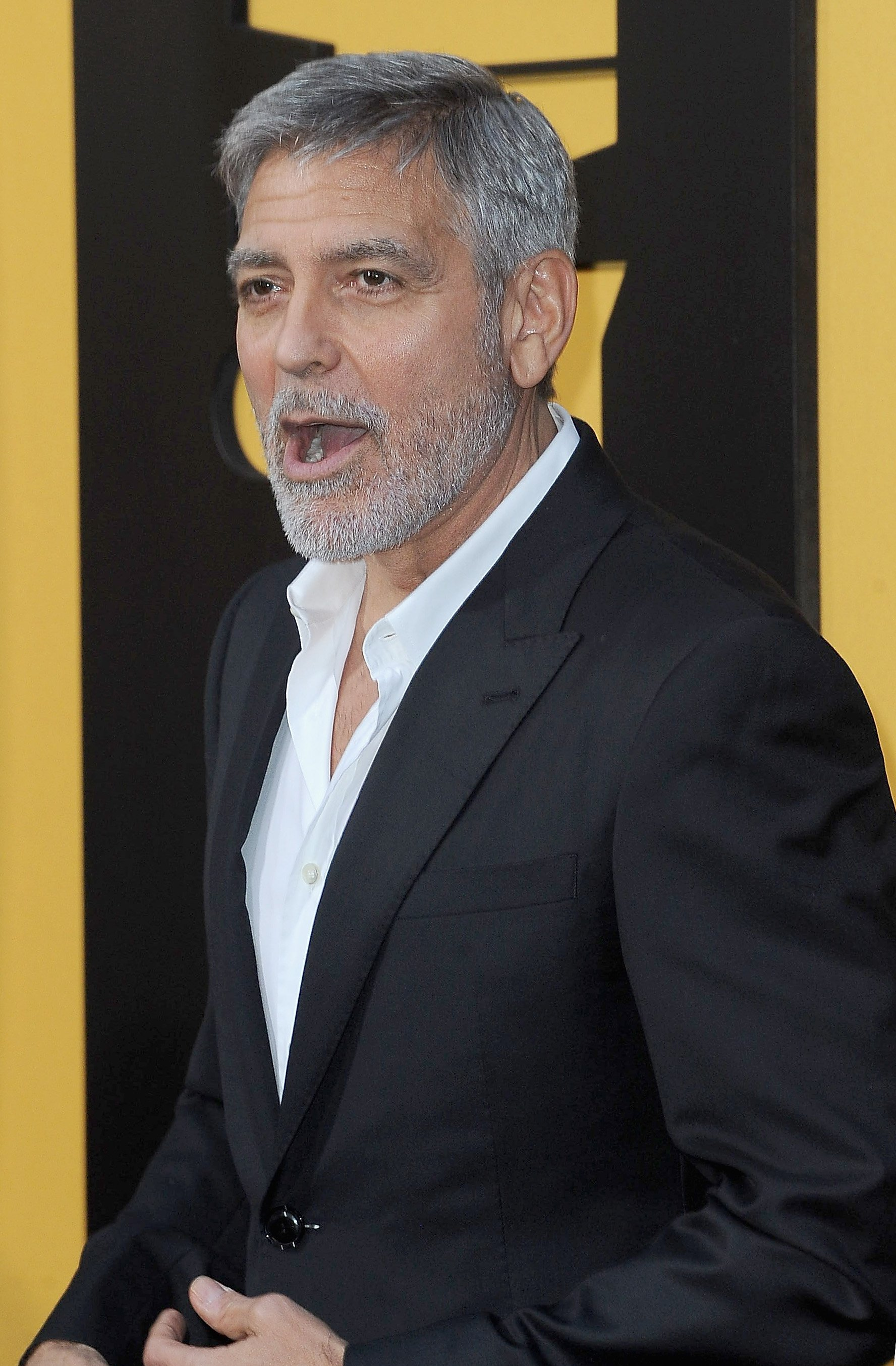 """George Clooney attends the premiere of """"Catch-22"""" on May 7, 2019 