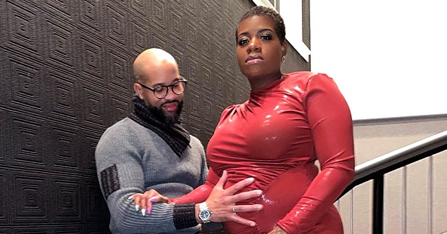 'American Idol' Alum Fantasia Flaunts Baby Bump in a Red Latex Dress with a High Slit (Photo)