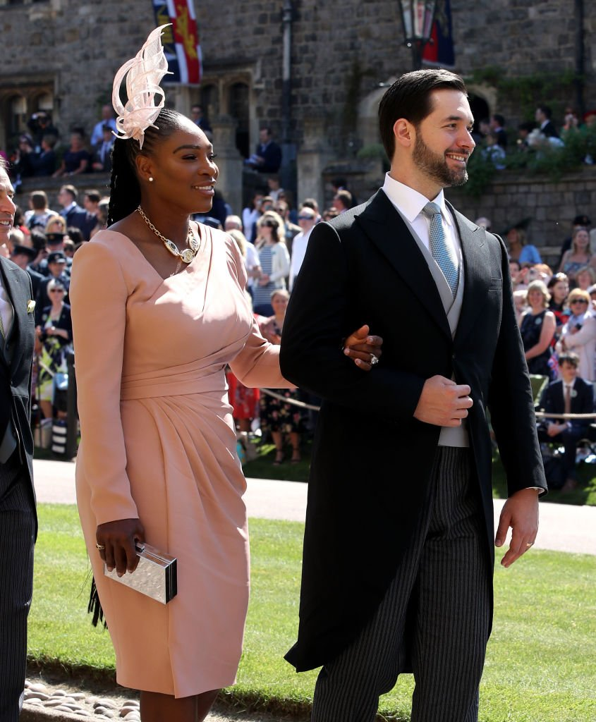 Serena Williams and Alexis Ohanian arrive for the wedding ceremony of Britain's Prince Harry and US actress Meghan Markle at St George's Chapel, Windsor Castle on May 19, 2018 in Windsor, England | Photo: Getty Images