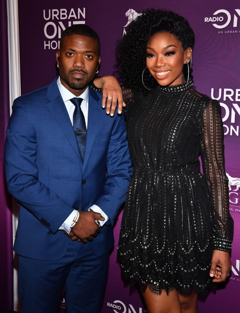 Ray J and his sister, Brandy Norwood at the 2018 Urban One Honors arrivals. | Photo: Getty Images