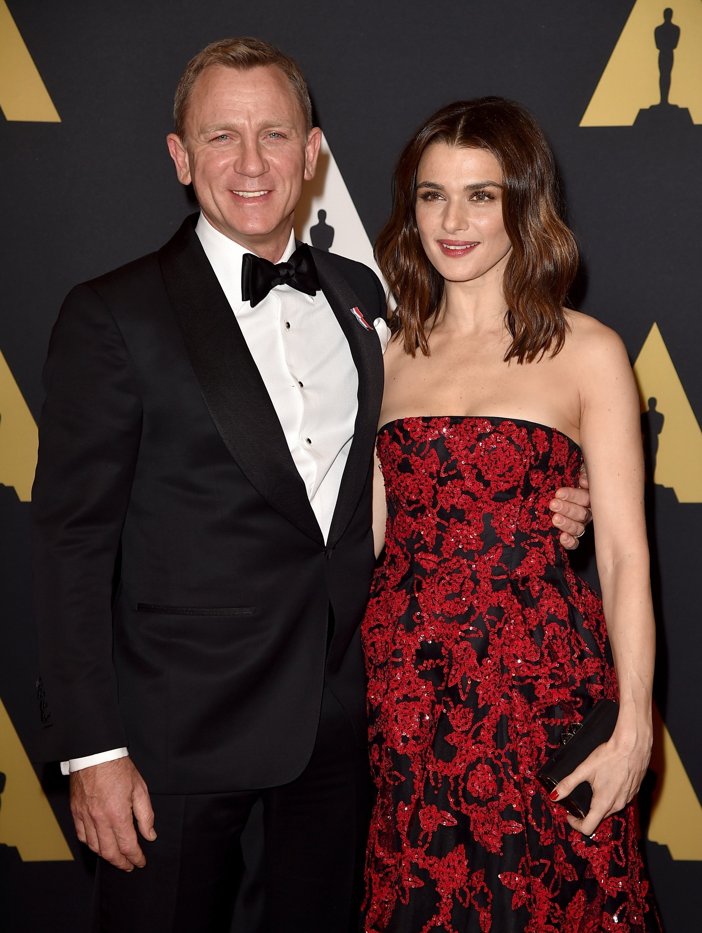 Daniel Craig and Rachel Weisz attend the Academy of Motion Picture Arts and Sciences' 7th annual Governors Awards on November 14, 2015 in Hollywood, California. | Source: Getty Images.