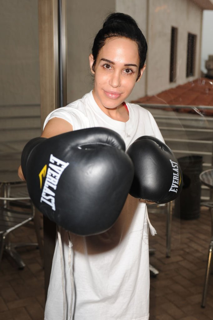 Nadya Suleman attends the Celebrity Boxing Match Press Conference | Getty Images