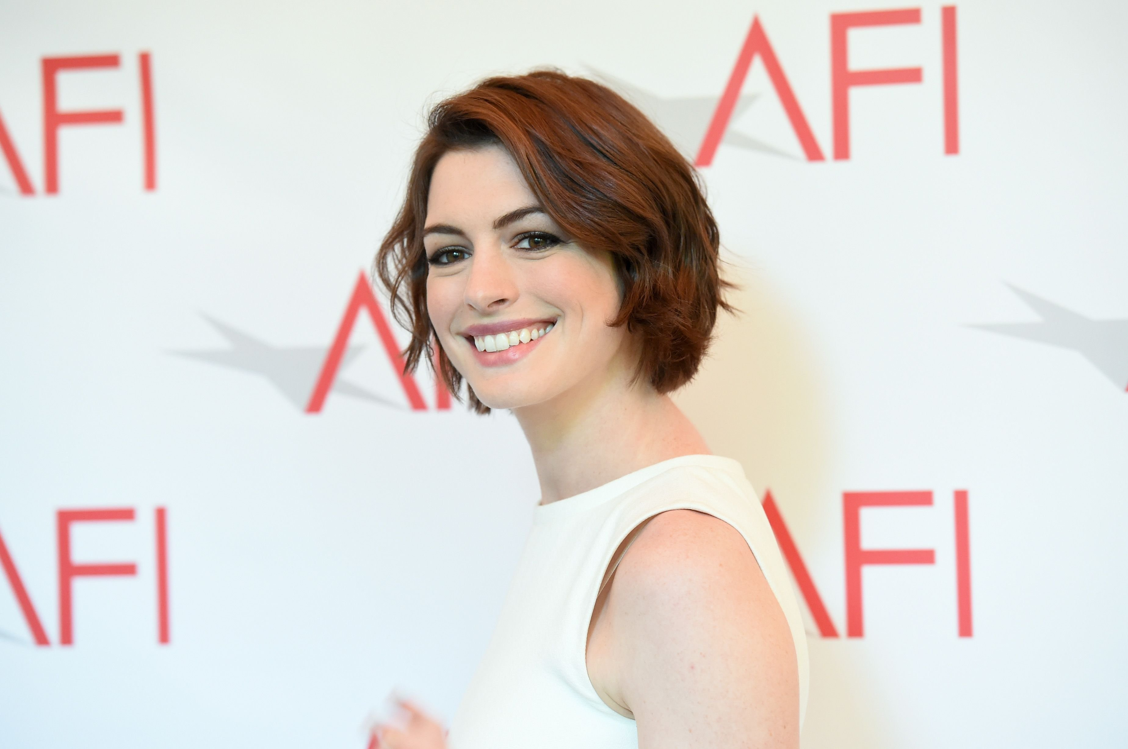 Anne Hathaway attends the 15th Annual AFI Awards in January 2015 in Beverly Hills, California   Source: Getty Images