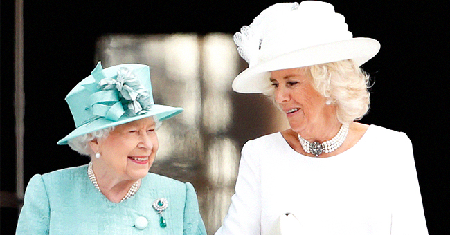 Queen Elizabeth & Camilla Parker Bowles Step out for Rare Outing Together at Westminster Abbey