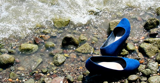 Laura's shoes by the river when she was a kid   Source: Shutterstock