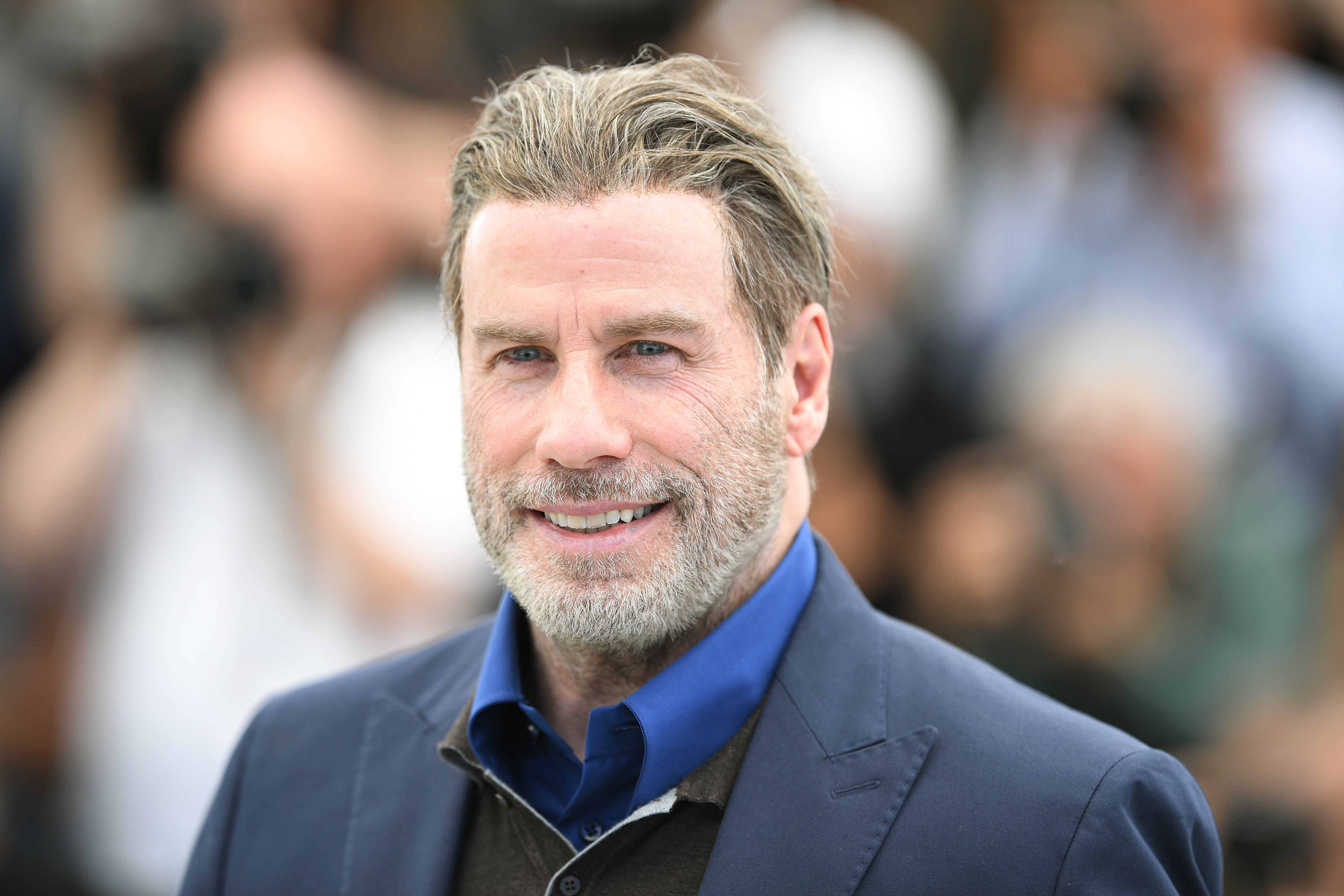 """John Travolta attends the photocall for """"Rendezvous with John Travolta - Gotti"""" at Cannes Film Festival in Cannes, France on May 15, 2018 