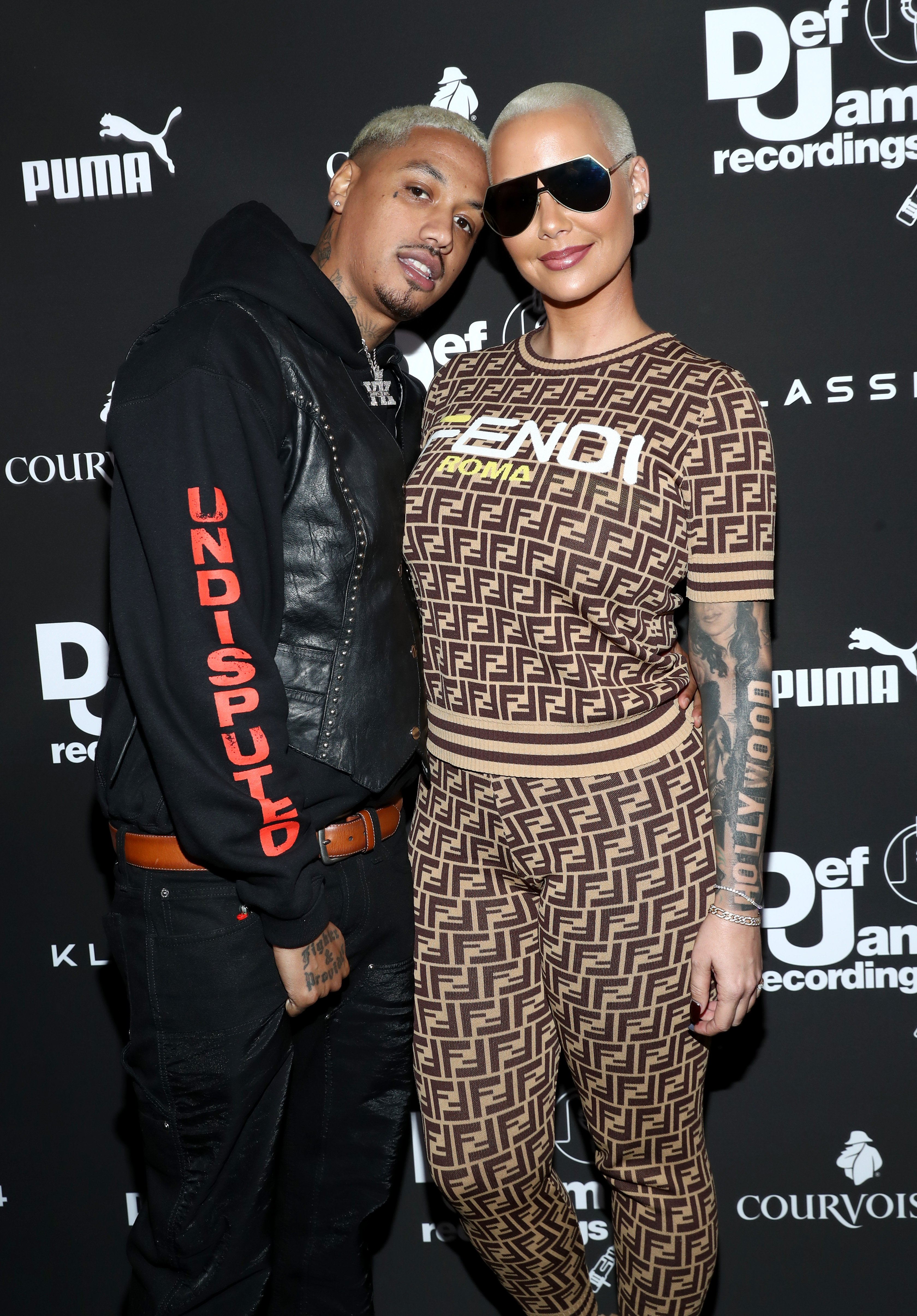 Alexander Edwards and Amber Rose attend the Def Jam Pre-Grammy 2019 party at Catch LA on February 08, 2019 in West Hollywood, California | Photo: Getty Images
