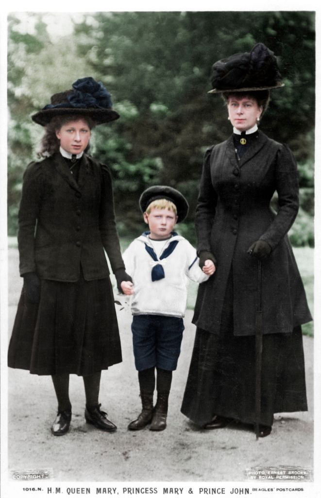 Image Credits: Getty Images/Queen Mary, Princess Mary and Prince John, 1910s