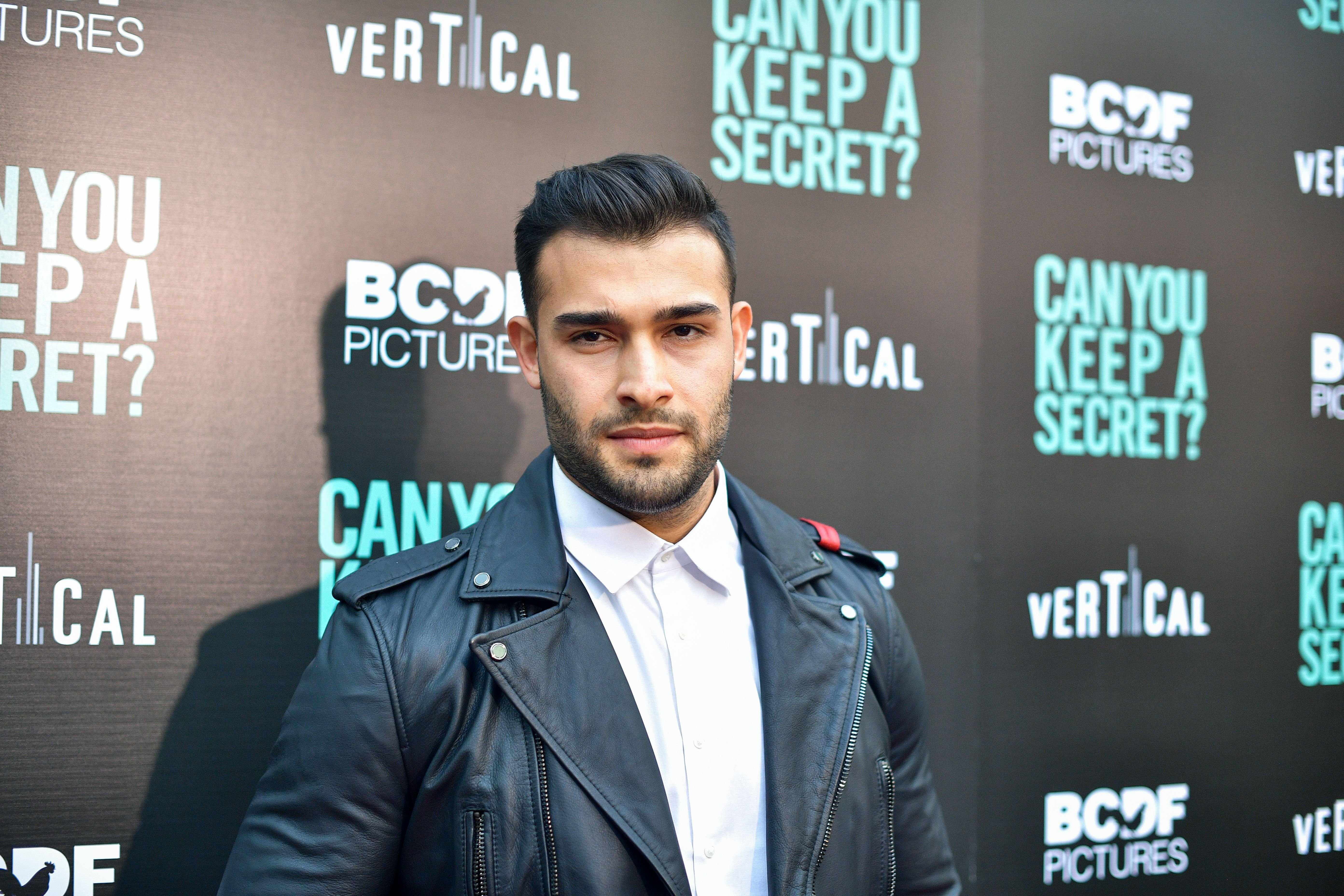 """Sam Asghari at the premiere of """"Can You Keep A Secret?"""" at ArcLight Hollywood on August 28, 2019, in California   Photo:  Matt Winkelmeyer/Getty Images)"""