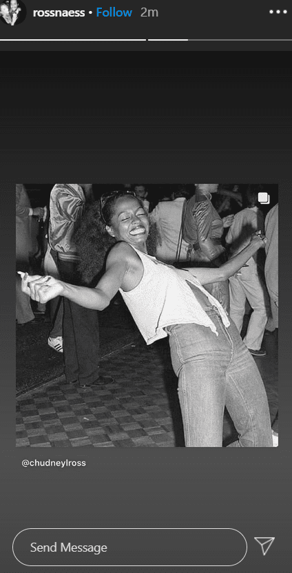 A screenshot of the birthday tribute Ross Naess shared on his Instagram stories for his mother, Diana Ross. | Photo: Instagram/rossnaess