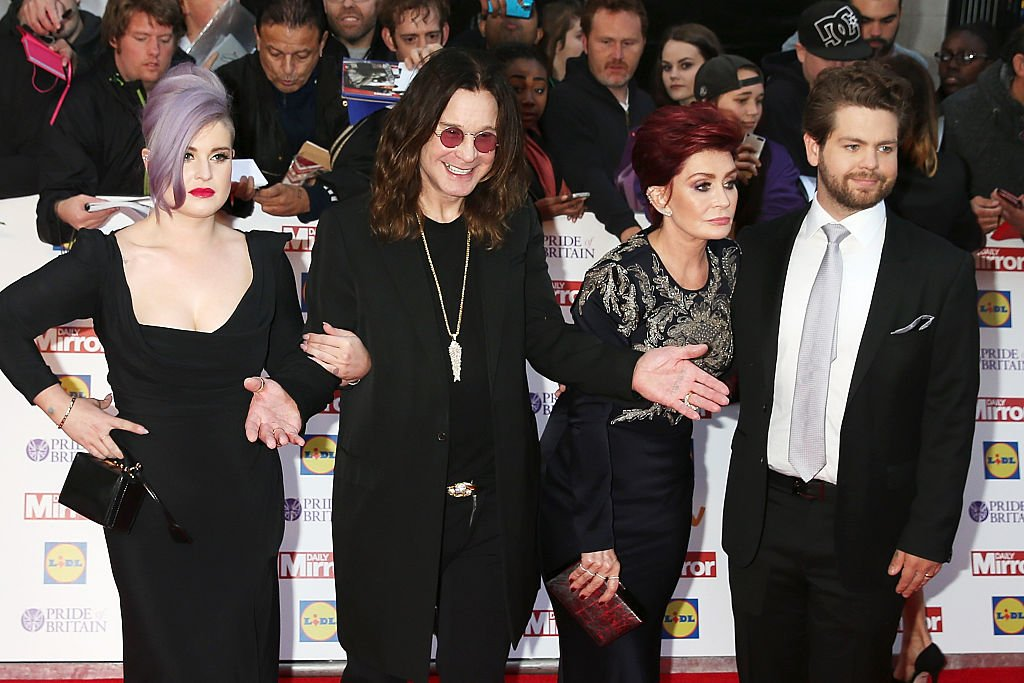 Kelly Osbourne, Ozzy Osbourne, Sharon Osbourne and Jack Osbourne attend the Pride of Britain awards on September 28, 2015, in London, England. | Source: Getty Images.