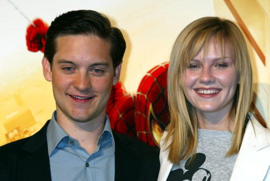 """Kirsten Dunst, Tobey Maguire, """"Spider-Man"""" Movie-Promotion in Japan, 2002 