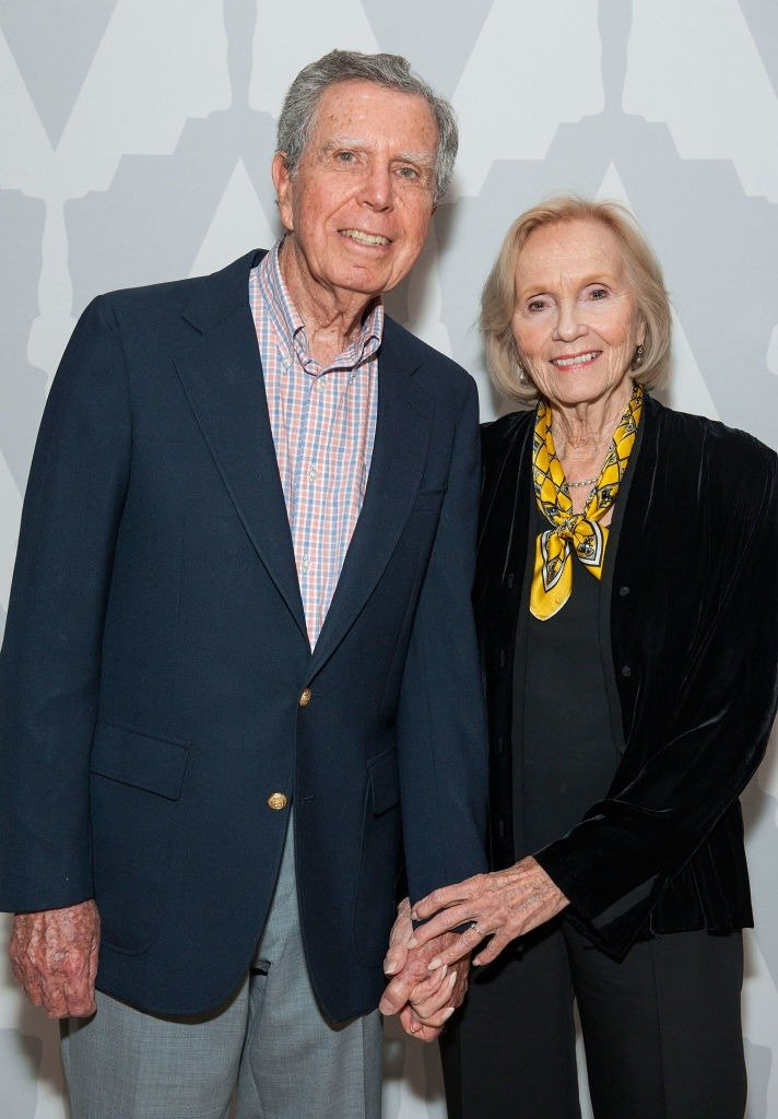 """Actress Eva Marie Saint and Jeffrey Hayden at The Academy Of Motion Picture Arts And Sciences' 60th Anniversary Screening Of """"On The Waterfront"""" on June 6, 2014. 