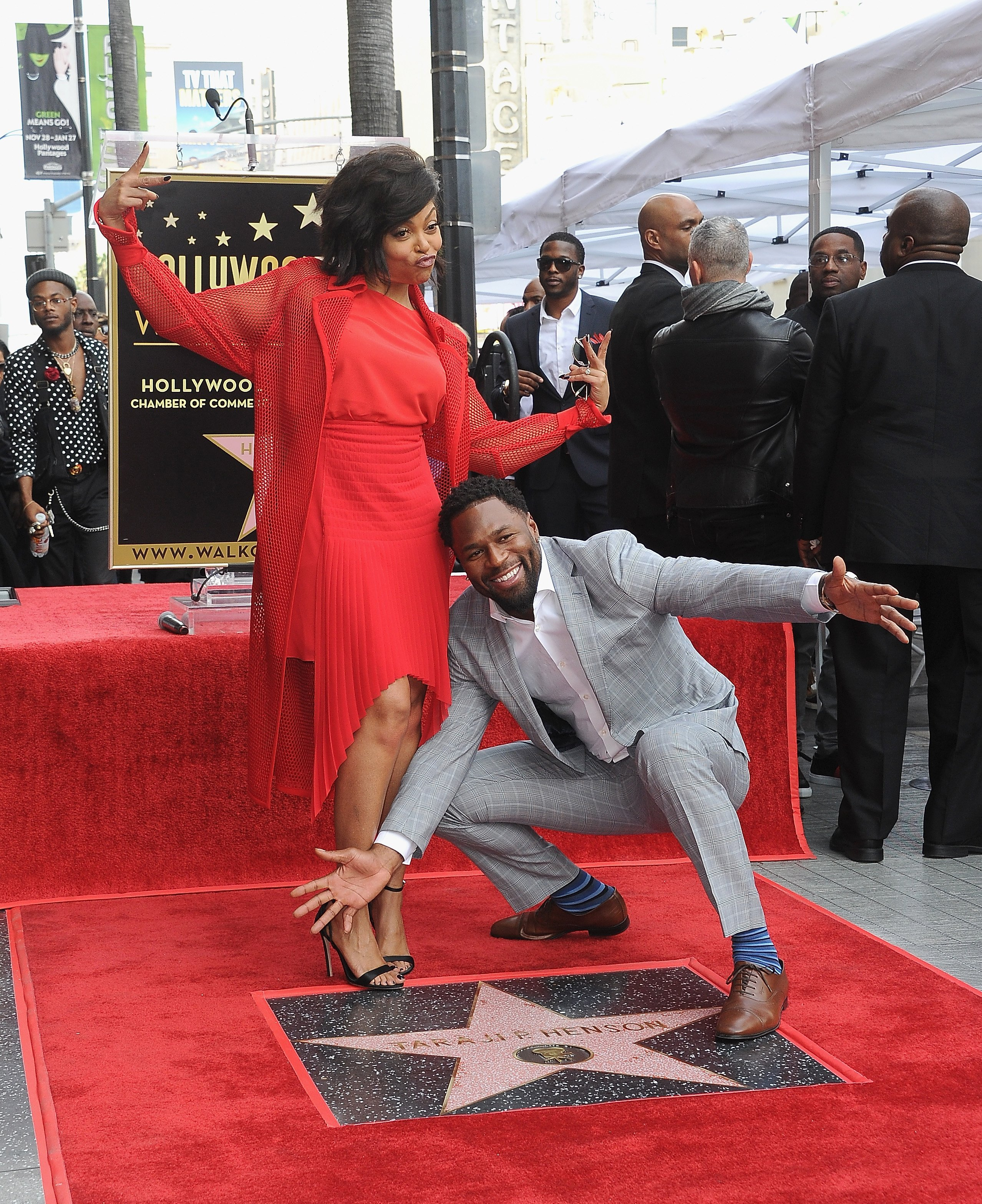 Taraji P. Henson & Kelvin Hayden as Taraji P. Henson is honored with a star on The Hollywood Walk of Fame on Jan. 28, 2019 in California | Photo: Getty Images
