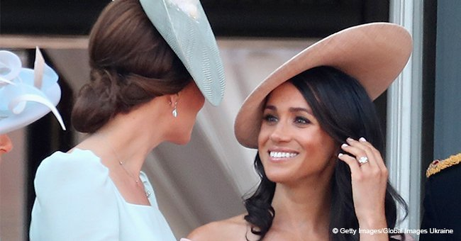 The reason why Meghan Markle stood behind Kate Middleton on the balcony