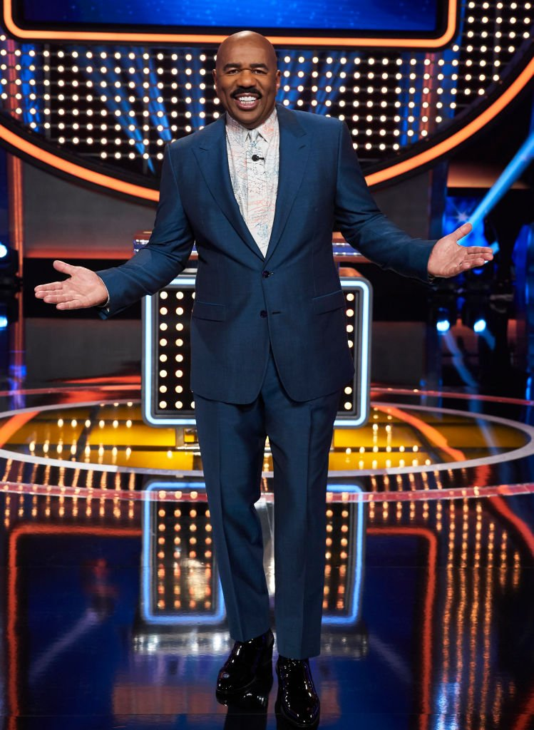 Steve Harvey on the set of ABC's Celebrity Family Feud   Photo: Getty Images