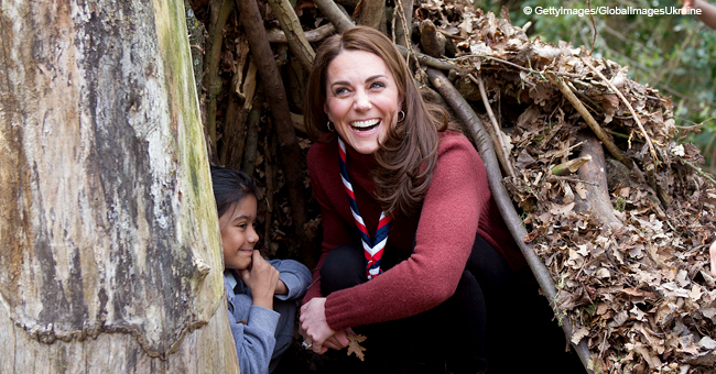 Kate Middleton Shows off Her Skills as She Spends a Day out in the Park with Young Scouts
