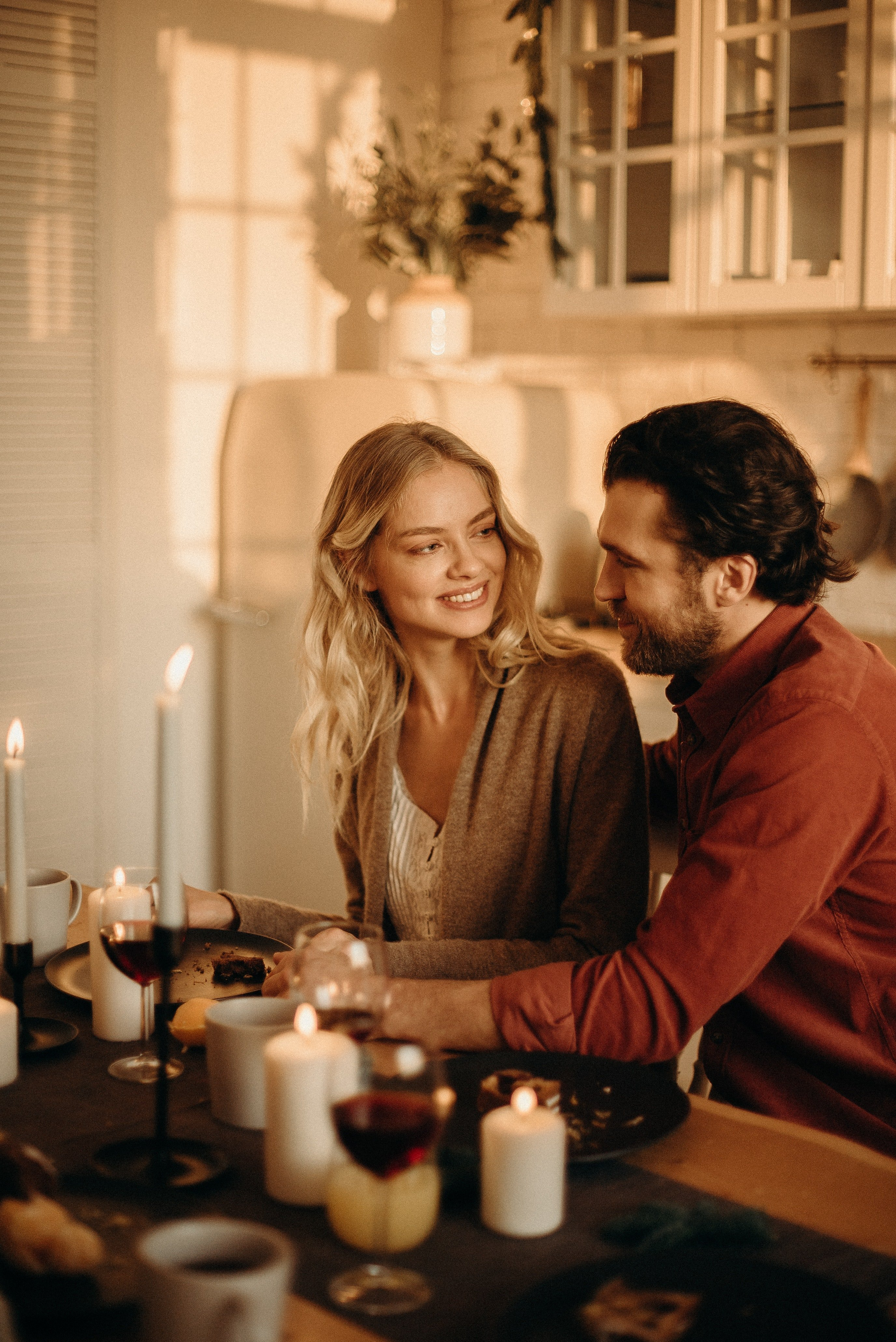 The couple celebrated their anniversary with a romantic dinner.   Photo: Pexels/cottonbro