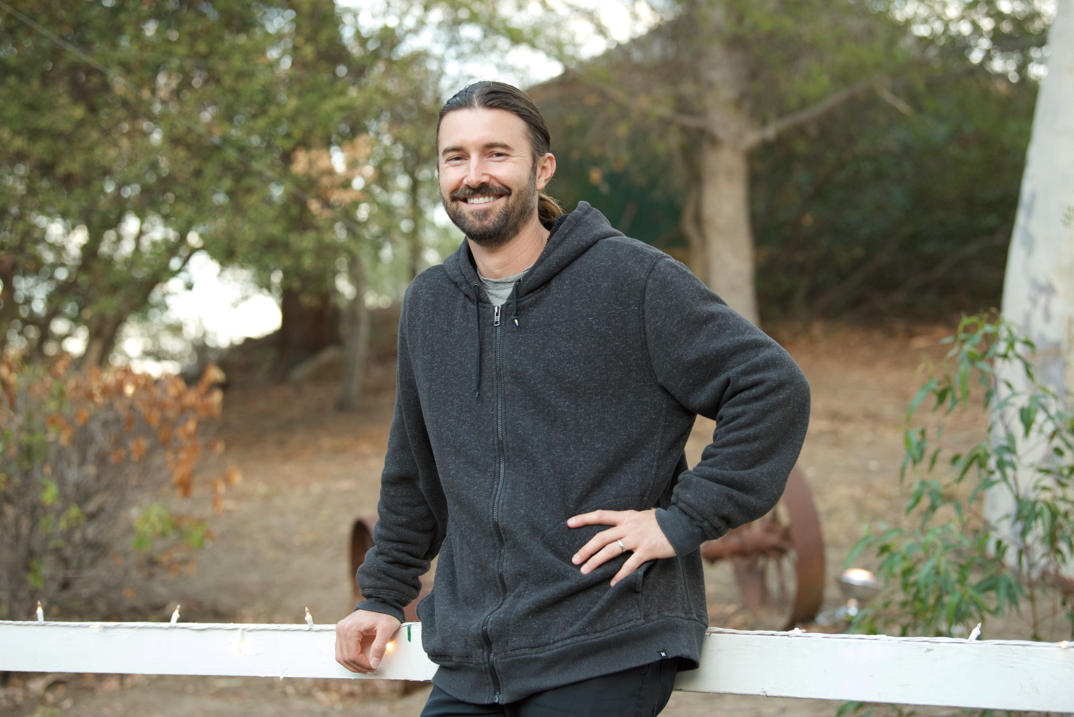 """Brandon Jenner poses for a photo at his Record Release Party For """"Burning Ground"""" in Malibu, California 