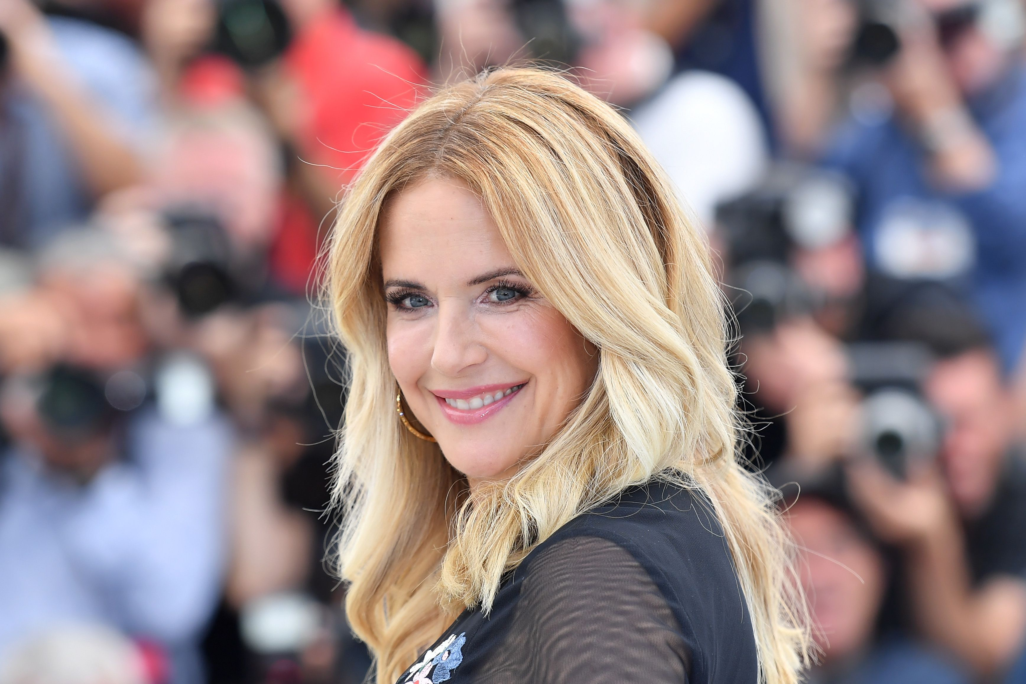 "Kelly Preston at the photocall for ""Rendezvous With John Travolta - Gotti"" during the 71st annual Cannes Film Festival at Palais des Festivals on May 15, 2018 