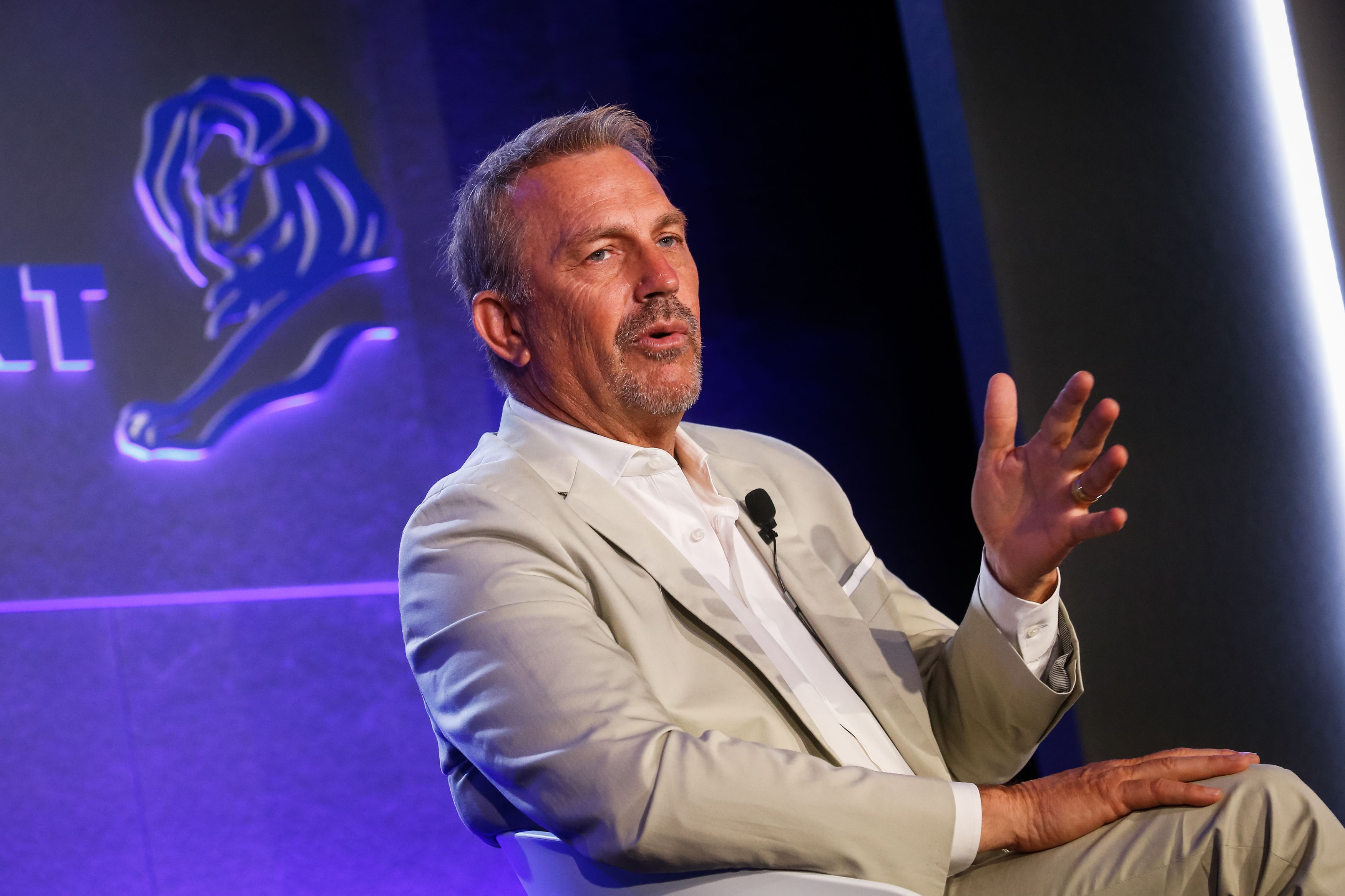 Kevin Costner speaks during the Cannes Lions Festival 2018 on June 21, 2018 | Photo: Getty Images