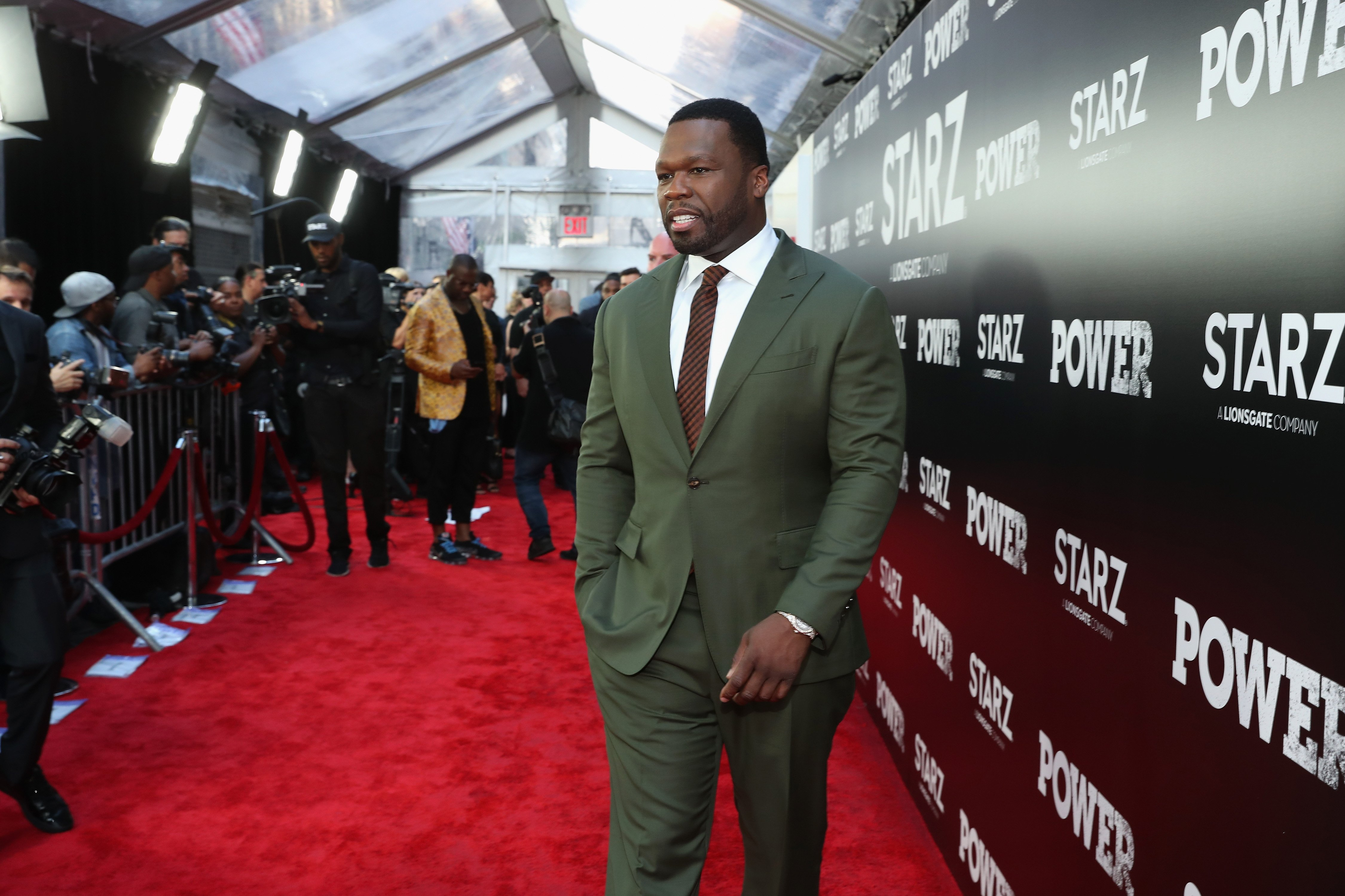 "Curtis ""50 cent"" Jackson at the Starz ""Power"" The Fifth Season NYC Red Carpet Premiere Event on June 28, 2018 in New York City 