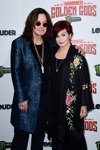 Ozzy Osbourne and wife Sharon Osbourne in the press room at the Metal Hammer Golden Gods Awards 2018 held at indigo at The O2 in London. | Photo: Getty Images