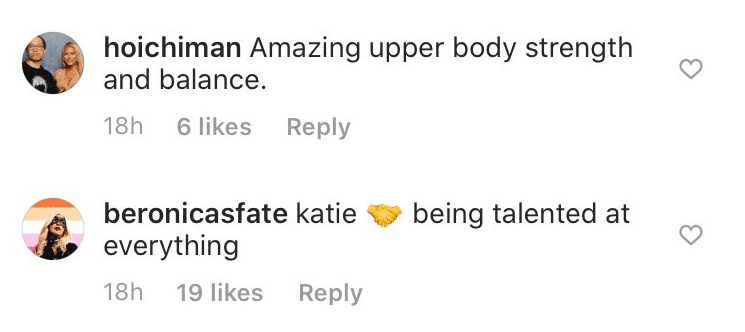 Fans' comments on Katie Cassidy's post | Photo: Instagram/ Katie Cassidy
