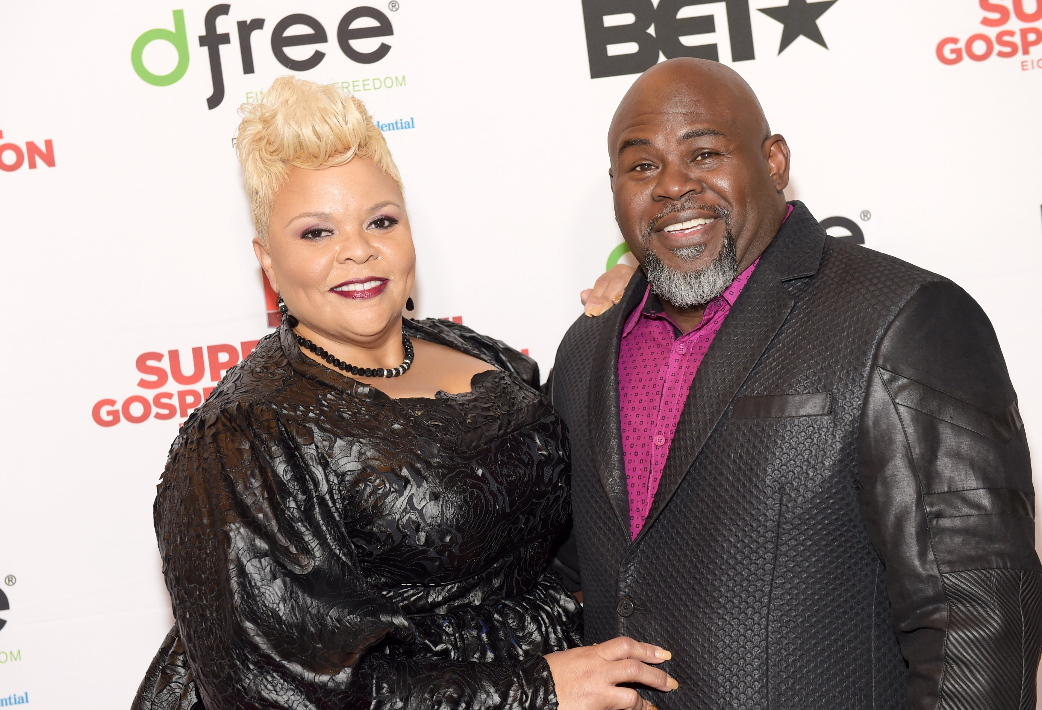 Tamela Mann and David Mann at  BET's Super Bowl Gospel Celebration in February 2017. | Photo: Getty Images