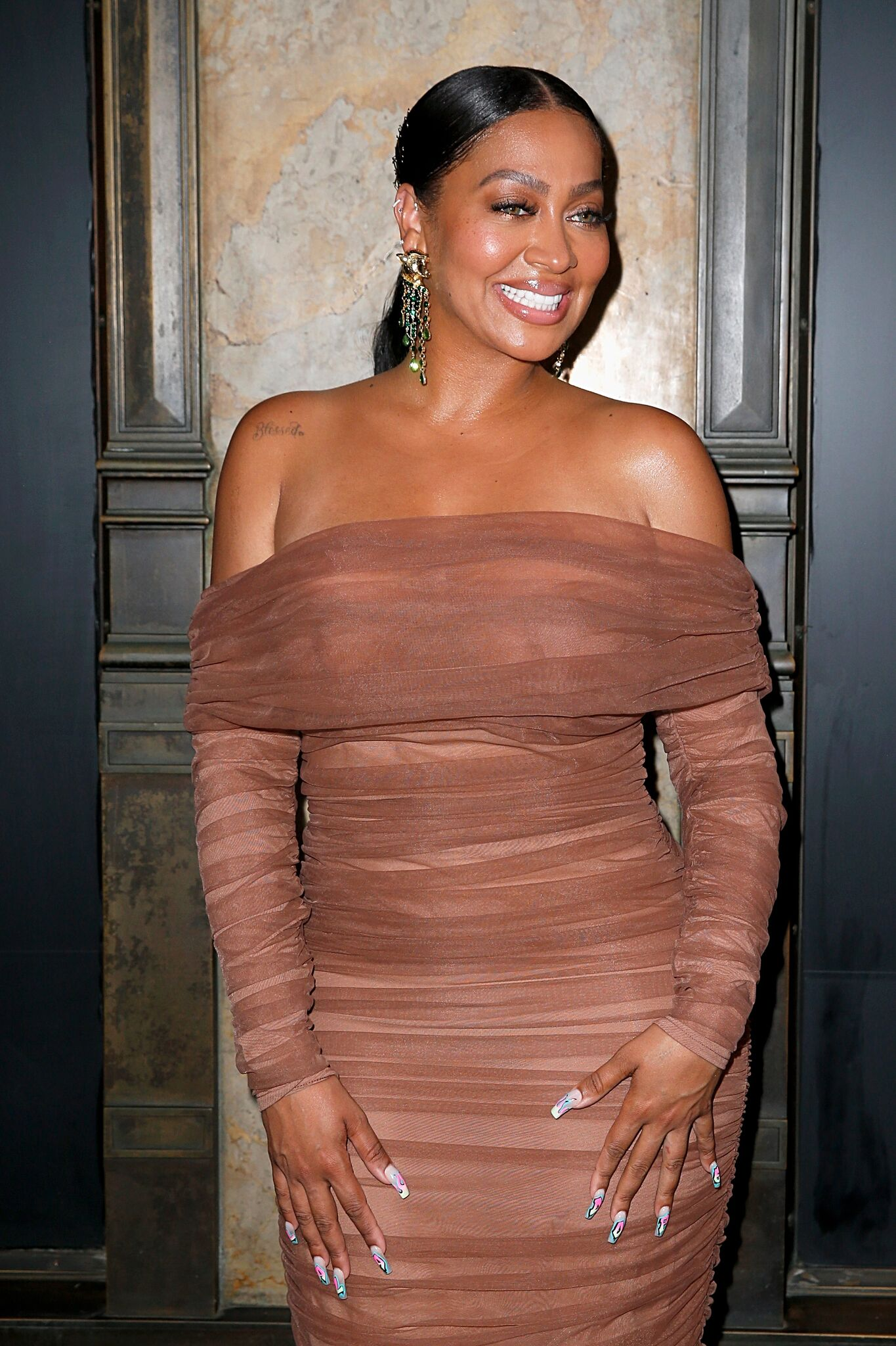 """La La Anthony attends as """"Power"""" celebrates its final season with a Saks Fifth Avenue window display  
