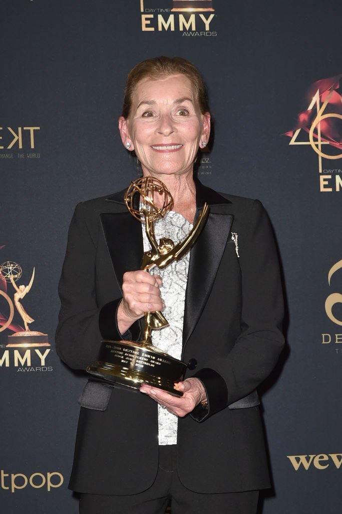 Judge Judy Sheindlin, with her Lifetime Achievement Award, at the 46th Annual Daytime Emmy Awards on May 05, 2019, in Pasadena | Source: Getty Images