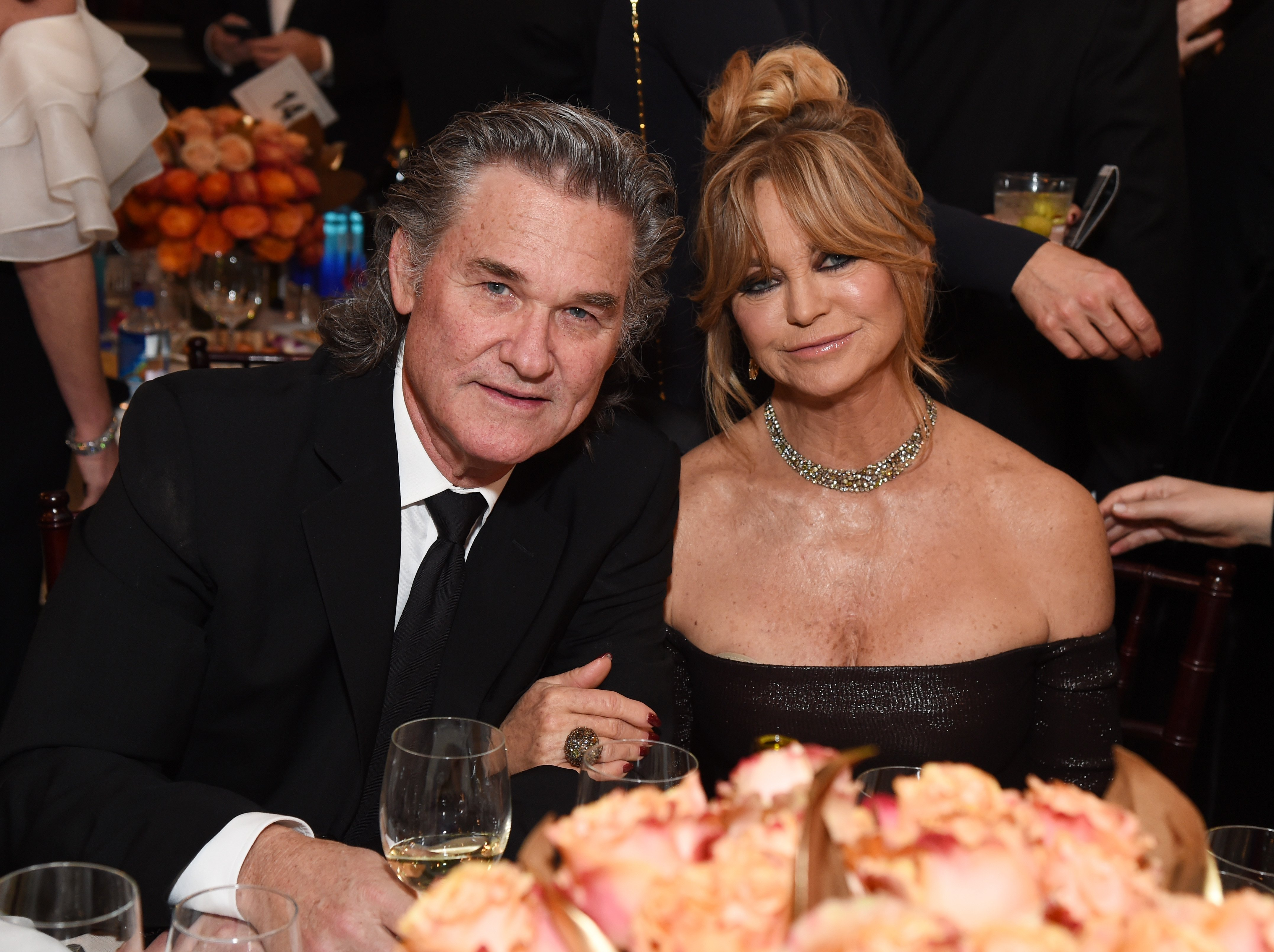 Kurt Russell and Goldie Hawn attend the 74th Annual Golden Globe Awards in Beverly Hills, California on January 8, 2017 | Photo: Getty Images