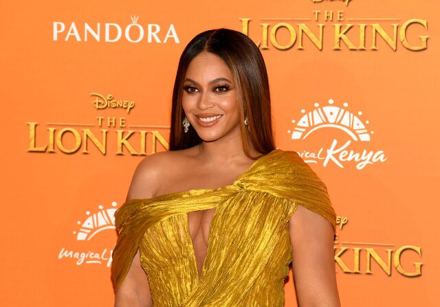 "Beyonce at the ""Lion King"" premiere 