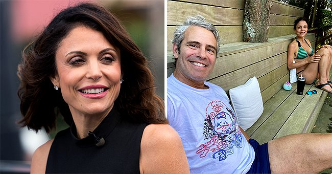 Bethenny Frankel Shows Toned Figure in Swimsuit during a Short RHONY Reunion with Andy Cohen