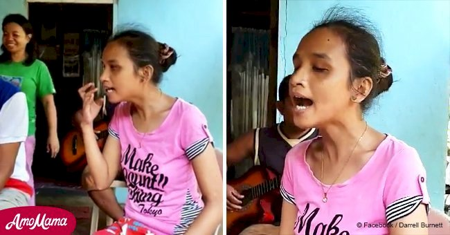 Visually impaired woman from fishing village in the Philippines sings just like Whitney Houston