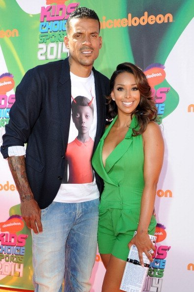 Matt Barnes and his wife Gloria Govan at Nickelodeon Kids' Choice Sports Awards 2014 | Photo: Getty Images