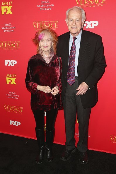 "Mike Farrell and Shelley Fabares at the Premiere Of FX's ""The Assassination Of Gianni Versace: American Crime Story"" on January 8, 2018 