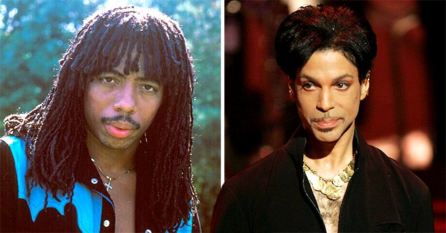 A picture of popular singers Prince and Rick James   Photo: Getty Images