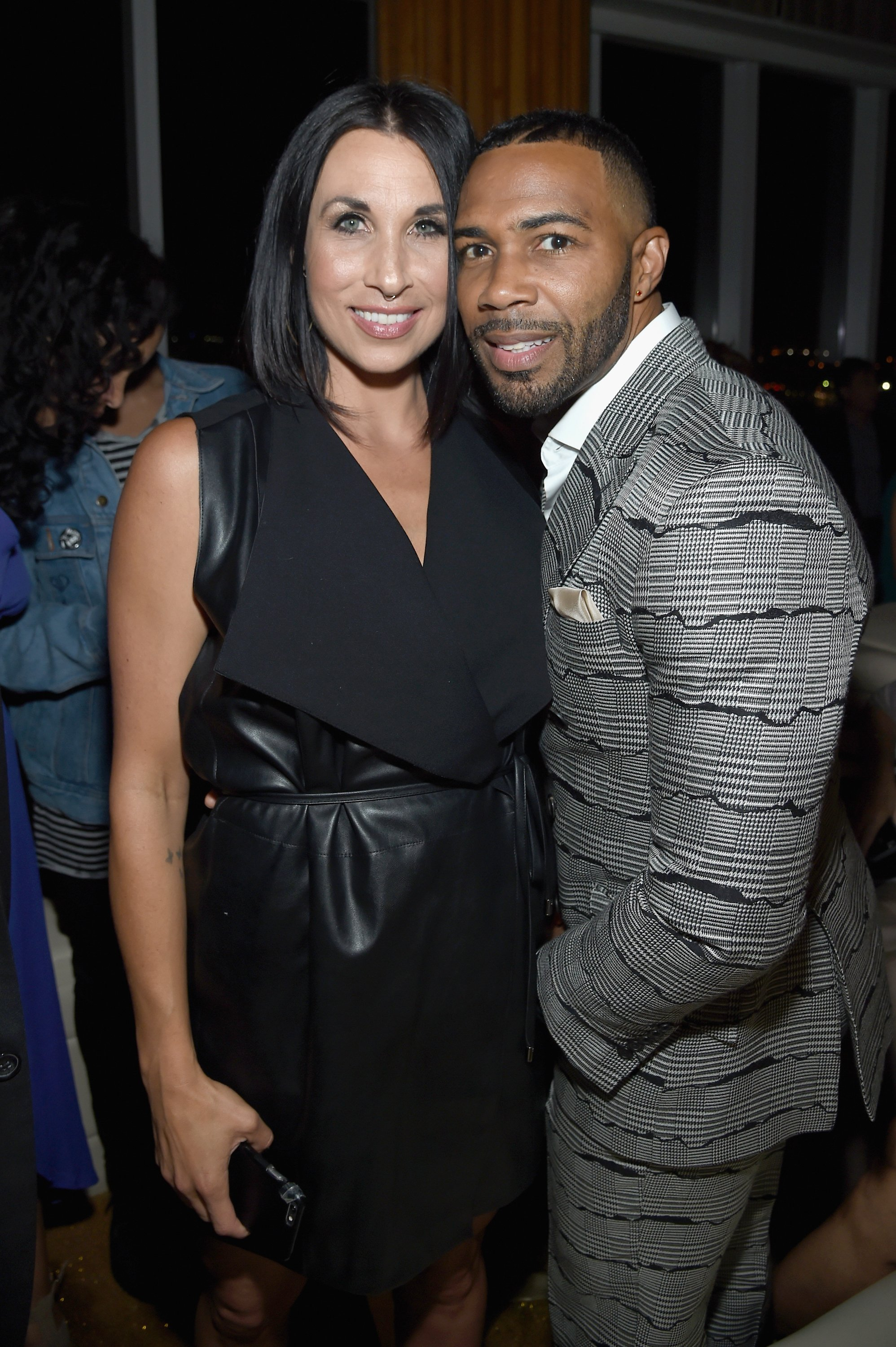 "Omari Hardwick and his wife, Jennifer Pfautch at the Season 3 premiere of ""Power"" in June 2016. 