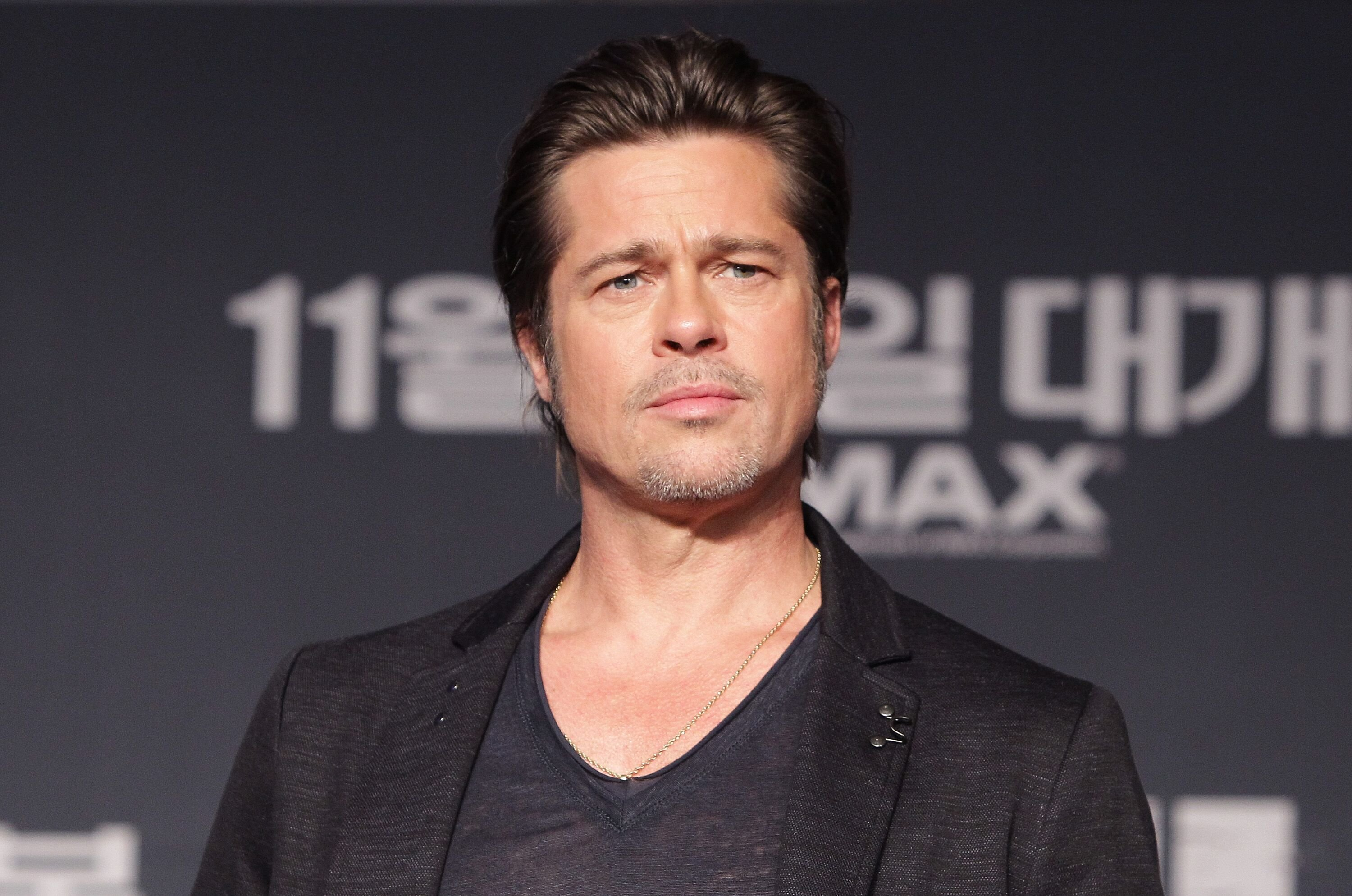 "Brad Pitt nimmt an der ""Fury""-Pressekonferenz im Conrad Hotel am 13. November 2014 in Seoul, Südkorea, teil. 