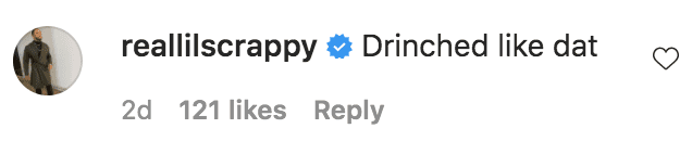 Lil Scrappy commented on a photo of Emani Richardson posing in a black cinched dress   Source: Instagram.com/official_emanii