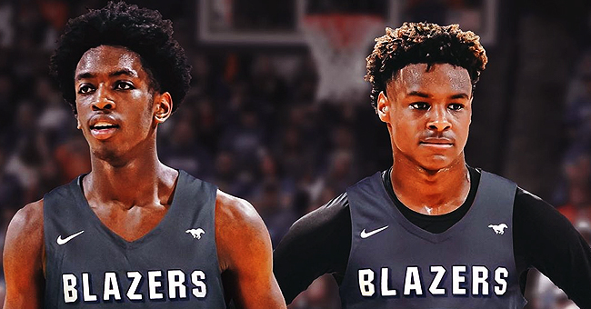 LeBron James & Dwyane Wade's Sons Bronny & Zaire Made Creative Dunks at Sierra Canyon's Media Day