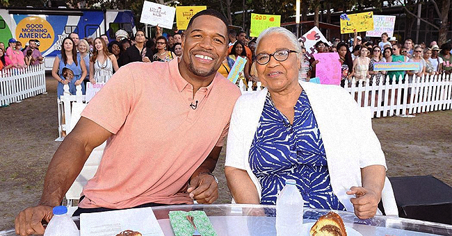 Michael Strahan and His Mom Appear on 'Good Morning America' Show in Houston