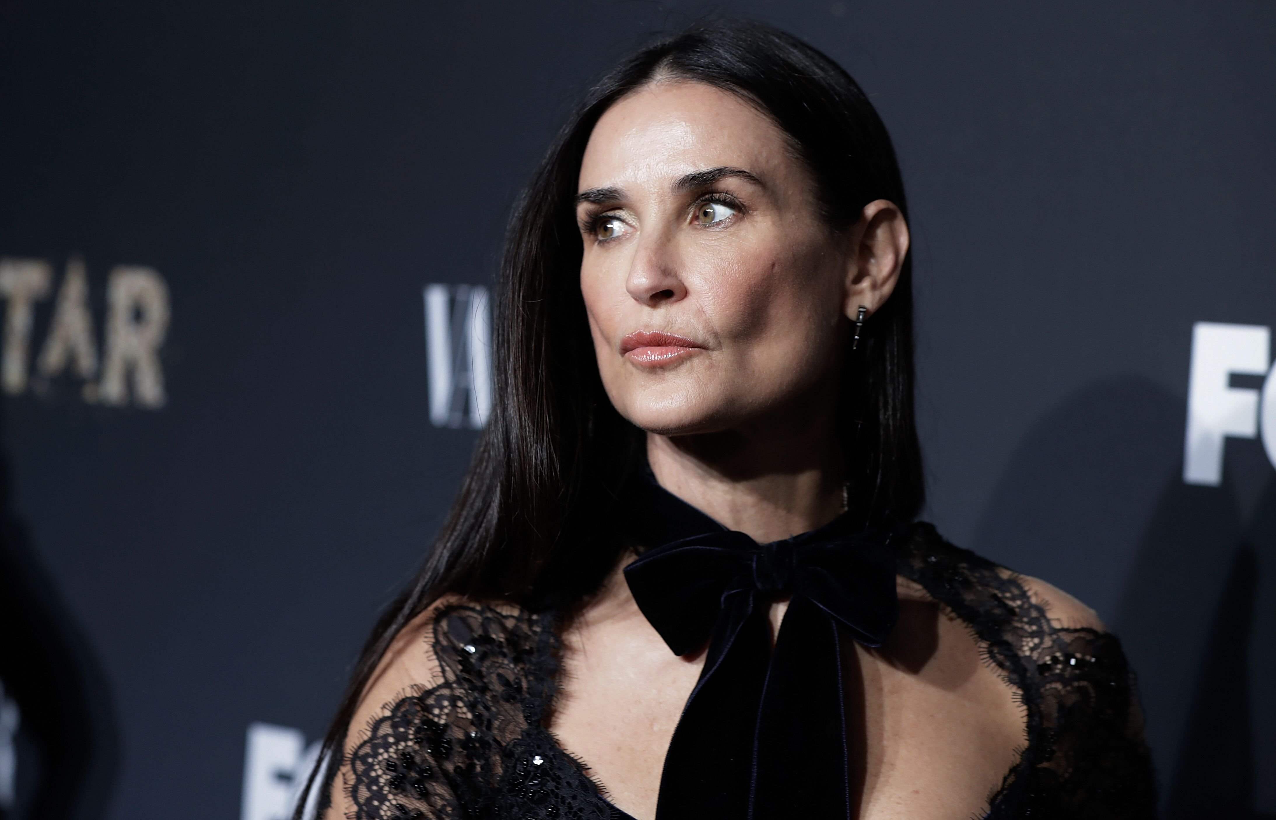 """Demi Moore at an event launching """"Empire"""" and """"Star"""" at One World Observatory in 2017 in New York 