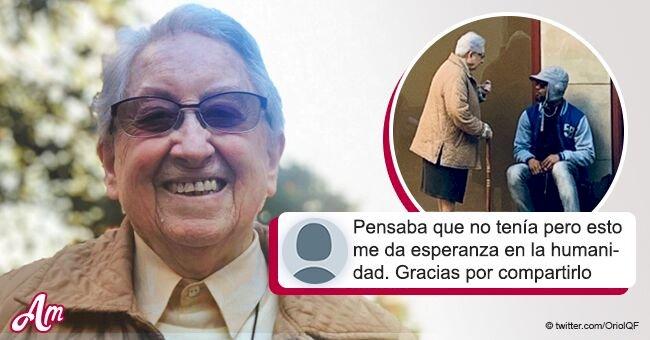 La emotiva historia sobre una monja y un vagabundo en Barcelona que se ha vuelto viral