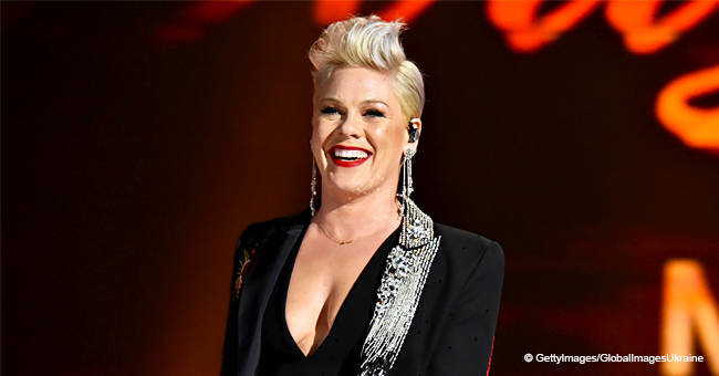 Pink Calls People 'Disgusting' after Being Mom-Shamed for Sharing Son's Photo without a Diaper