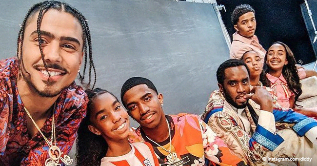 Diddy & His 6 Kids Rock the Floral Look in Recent Photo