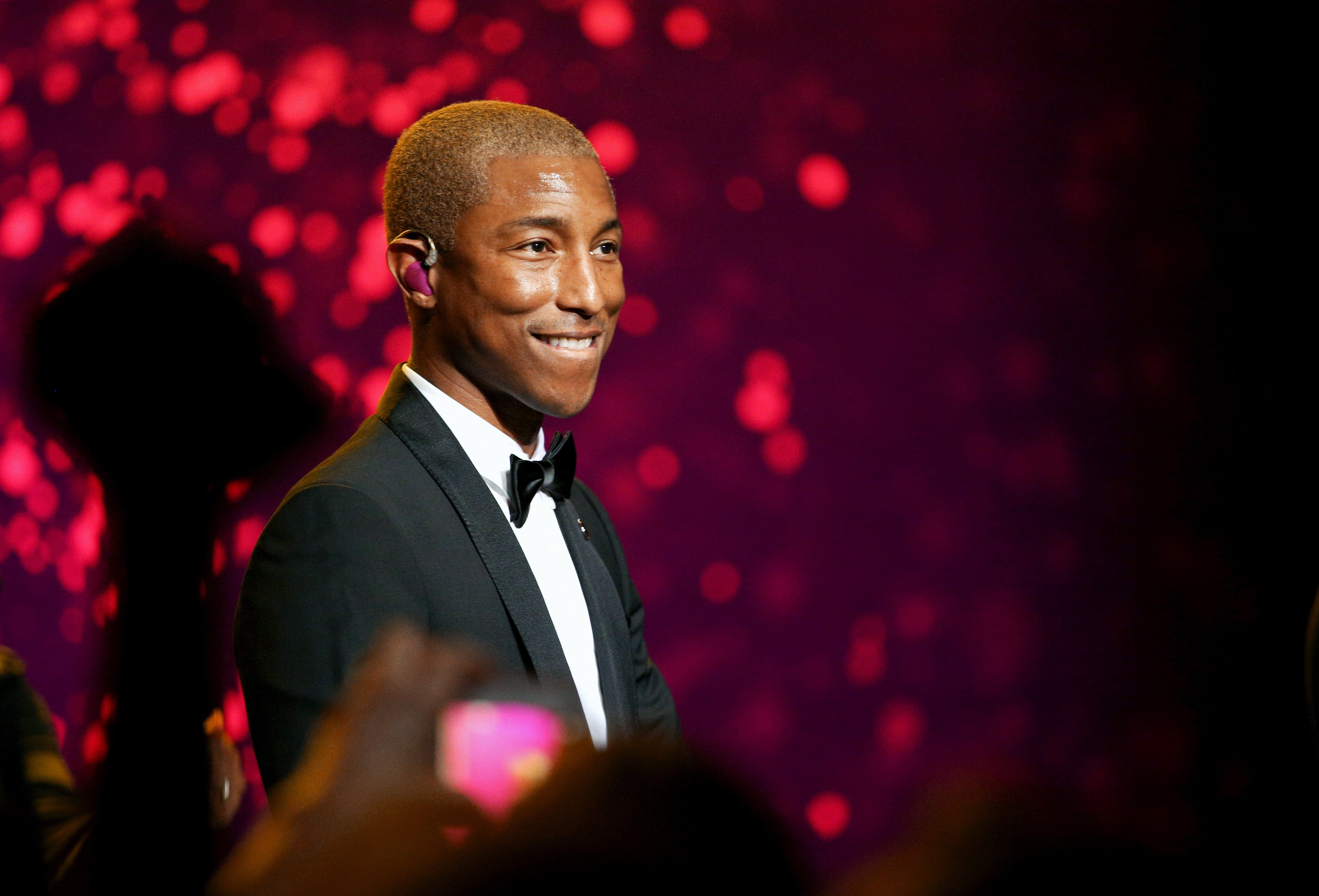 Pharrell Williams at the 7th Biennial UNICEF Ball on April 14, 2018 in Beverly Hills, California.|Source: Getty Images